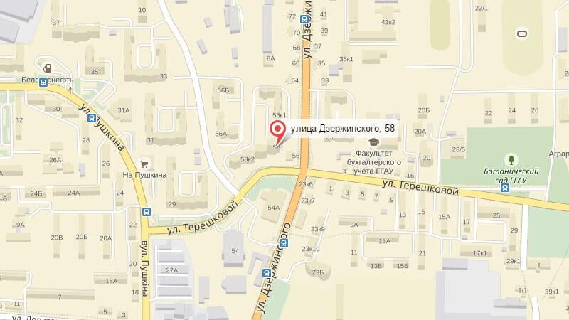 Карта проезда к офису компании УВС Прима